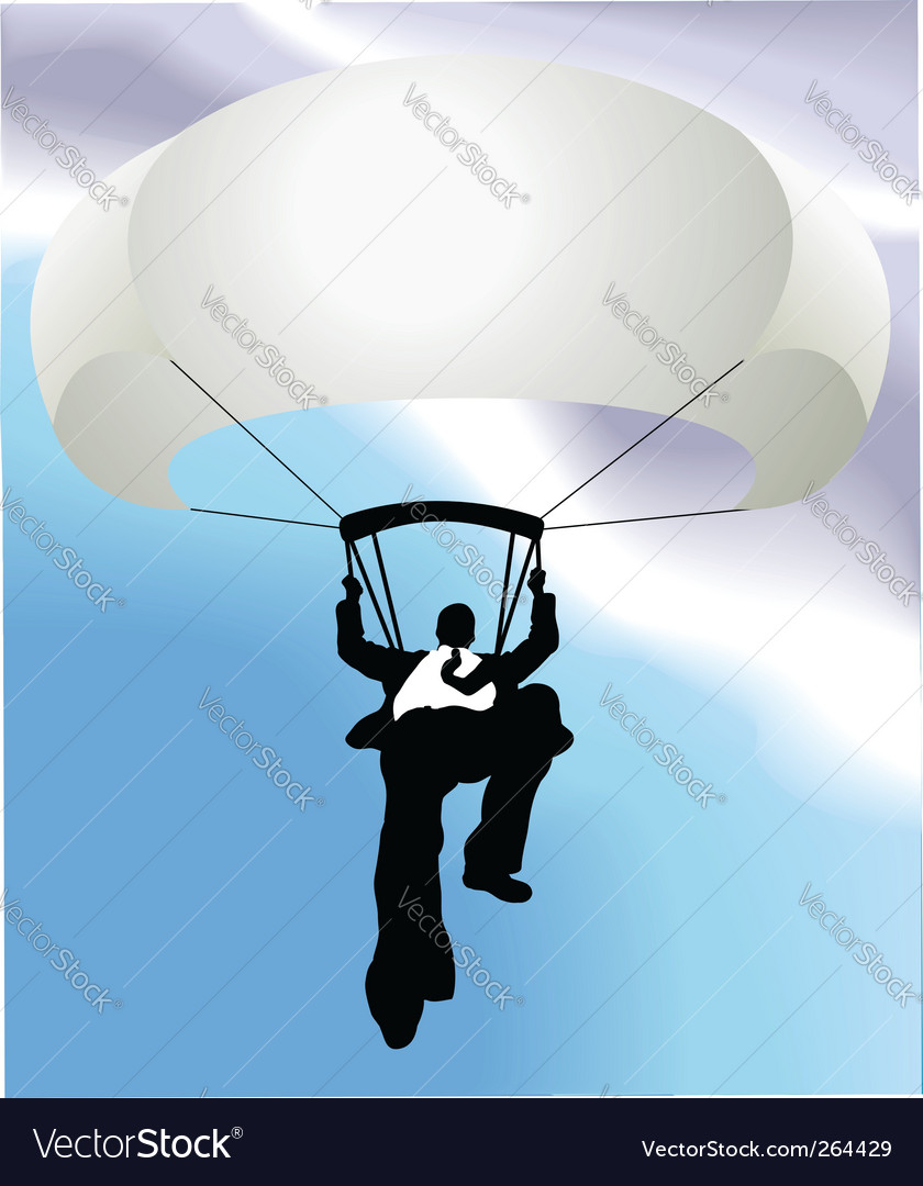 Businessman parachute vector | Price: 1 Credit (USD $1)