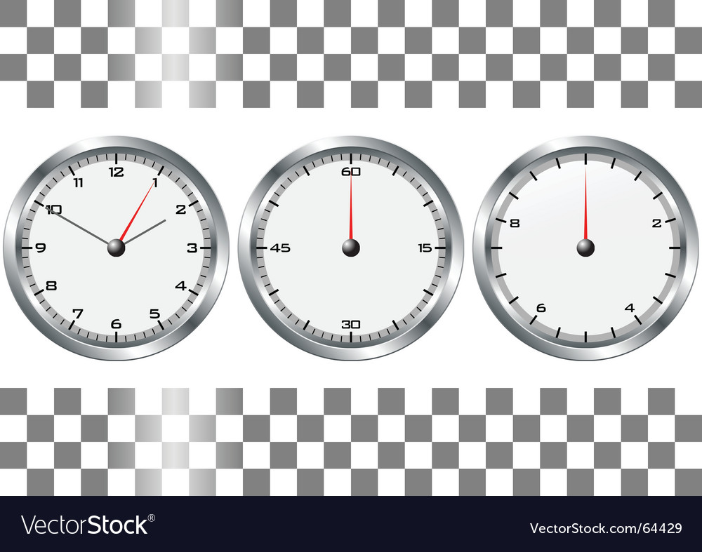 Chronographs vector | Price: 1 Credit (USD $1)
