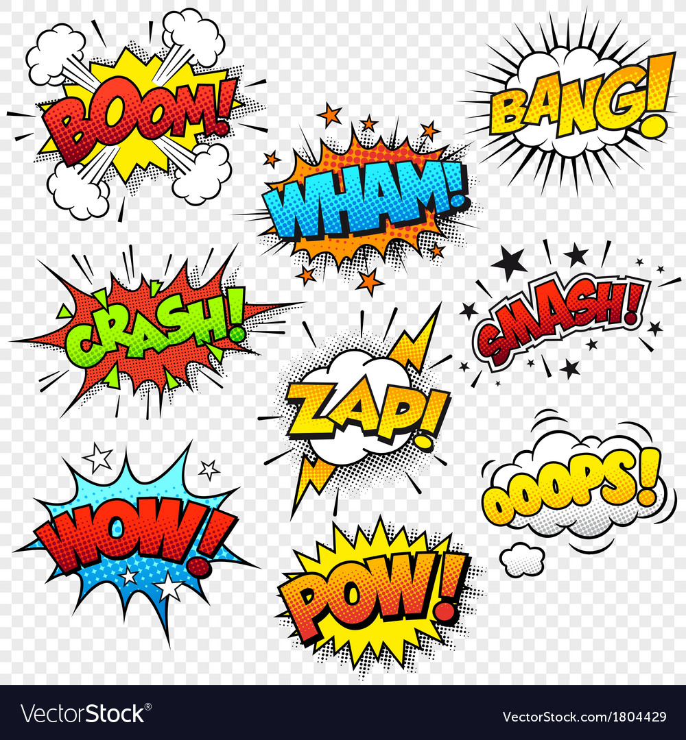 Comic sound effects vector | Price: 1 Credit (USD $1)