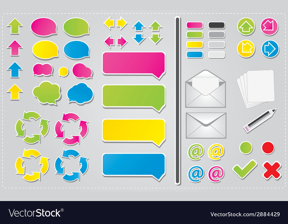 Communication icons and symbols vector | Price: 1 Credit (USD $1)