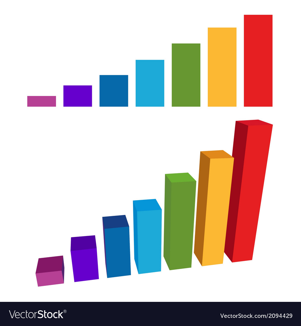 Flat and 3d chart color diagram vector | Price: 1 Credit (USD $1)
