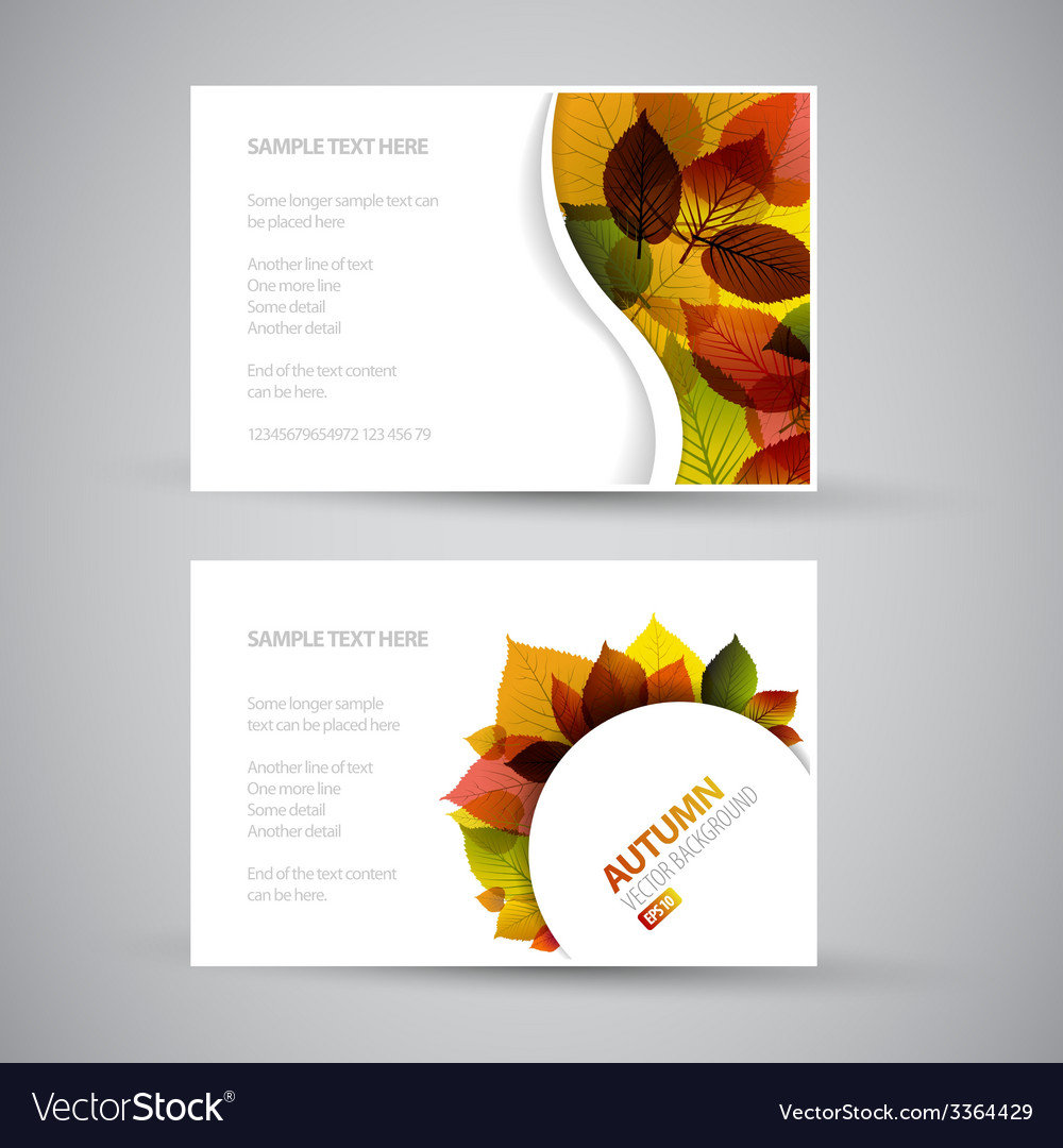 Fresh natural fall banners vector | Price: 1 Credit (USD $1)