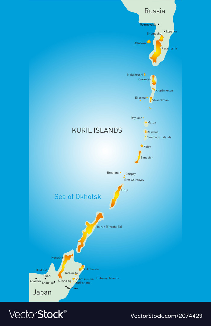 Kuril island vector | Price: 1 Credit (USD $1)