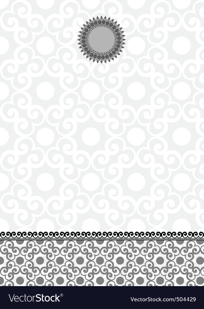 ornate lace background and frame vector | Price: 1 Credit (USD $1)