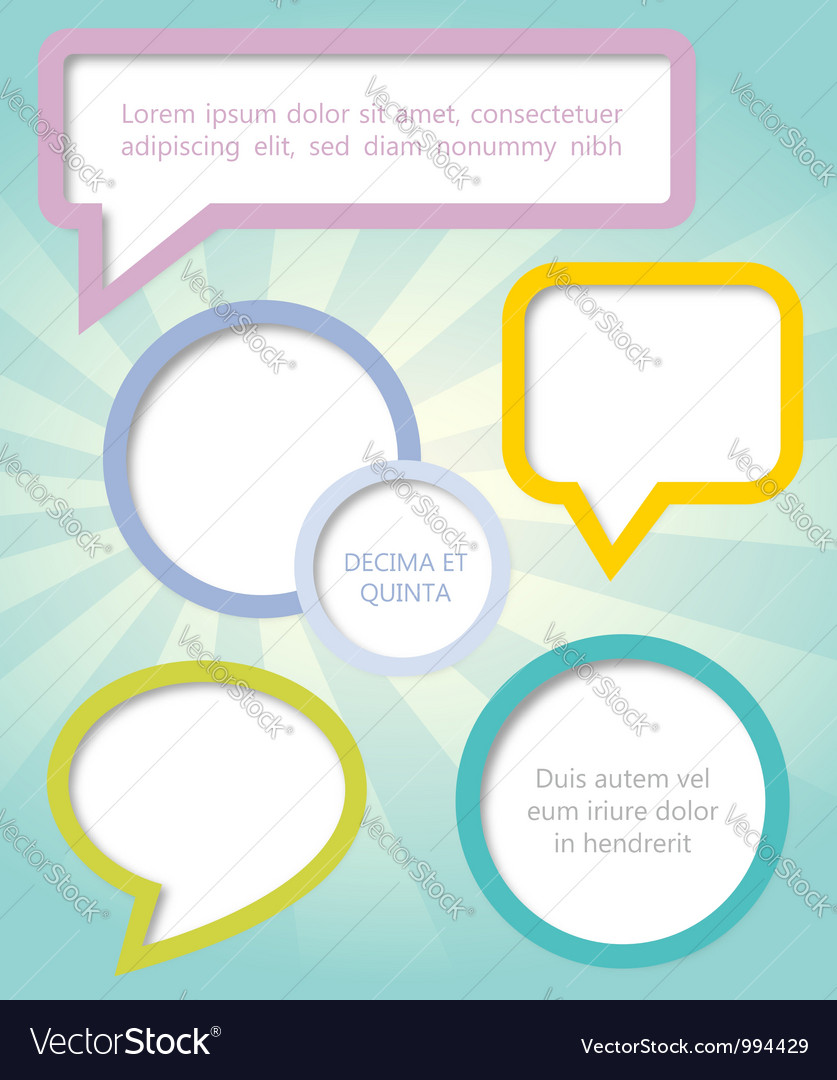 Paper clouds and speech bubbles vector | Price: 1 Credit (USD $1)