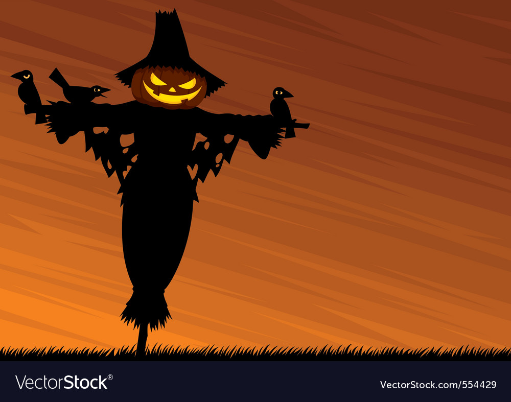 Scarecrow background vector | Price: 1 Credit (USD $1)