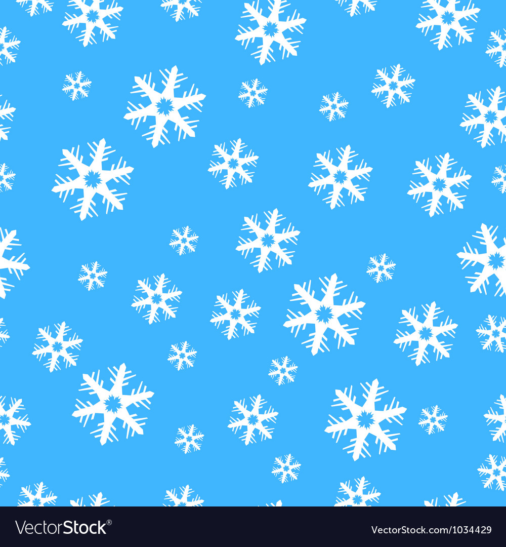 Seamless christmas decoration snowflakes vector | Price: 1 Credit (USD $1)