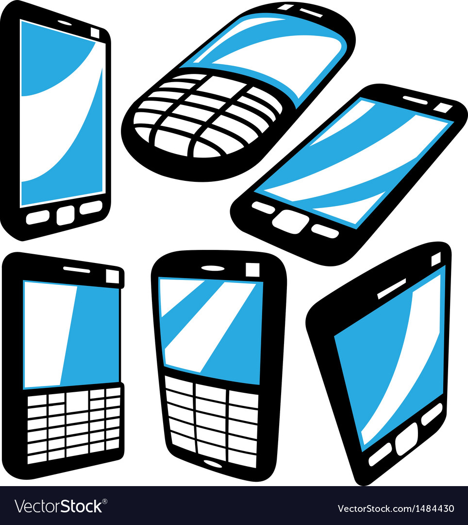 Cell phoneset vector | Price: 1 Credit (USD $1)