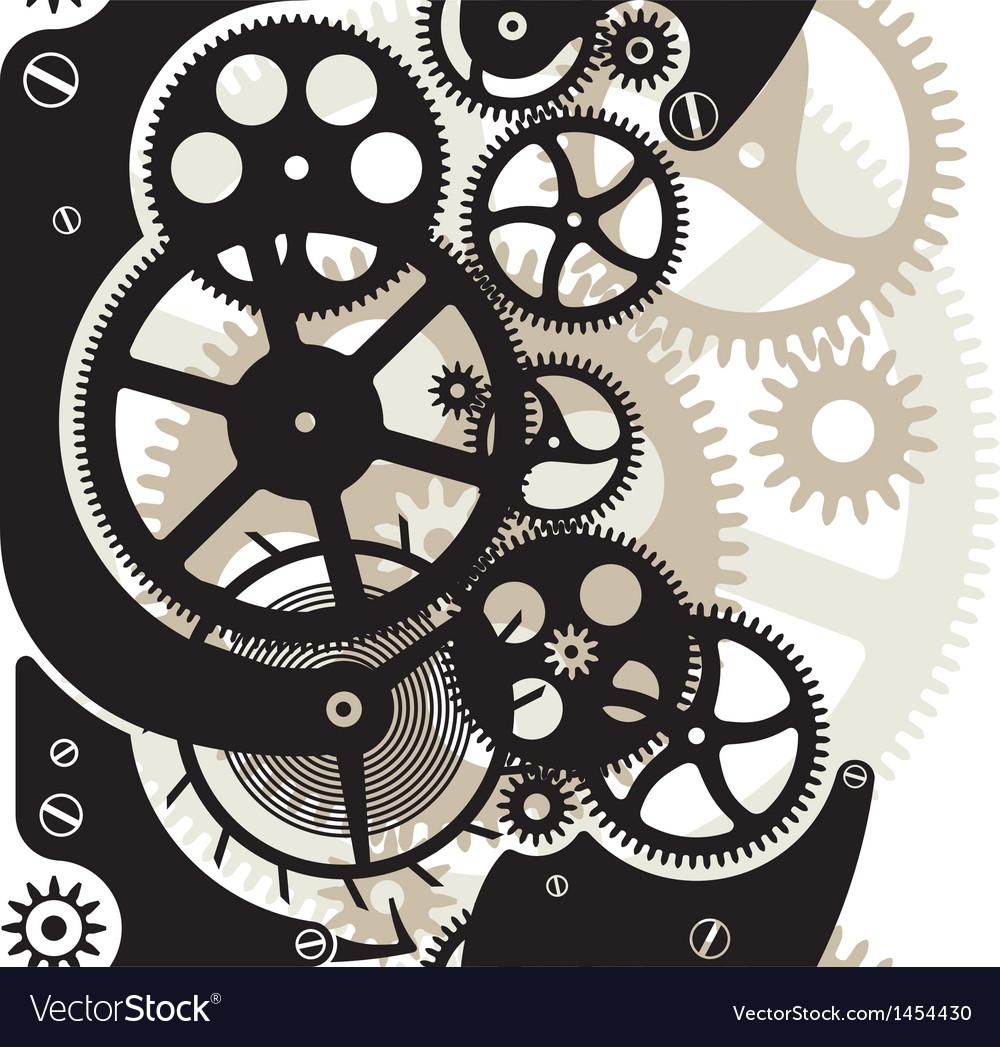 Cog wheels seamless vector | Price: 1 Credit (USD $1)