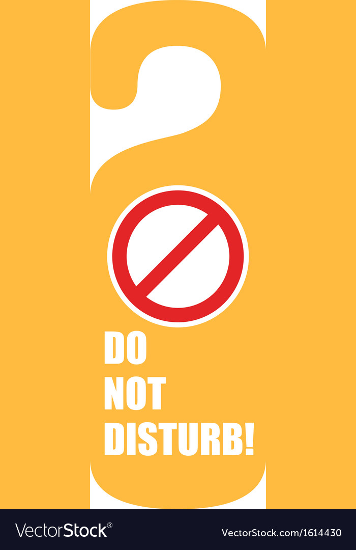 Do not disturb door hanger vector | Price: 1 Credit (USD $1)