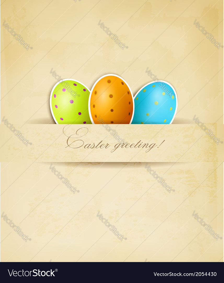 Easter retro background with eggs vector | Price: 1 Credit (USD $1)