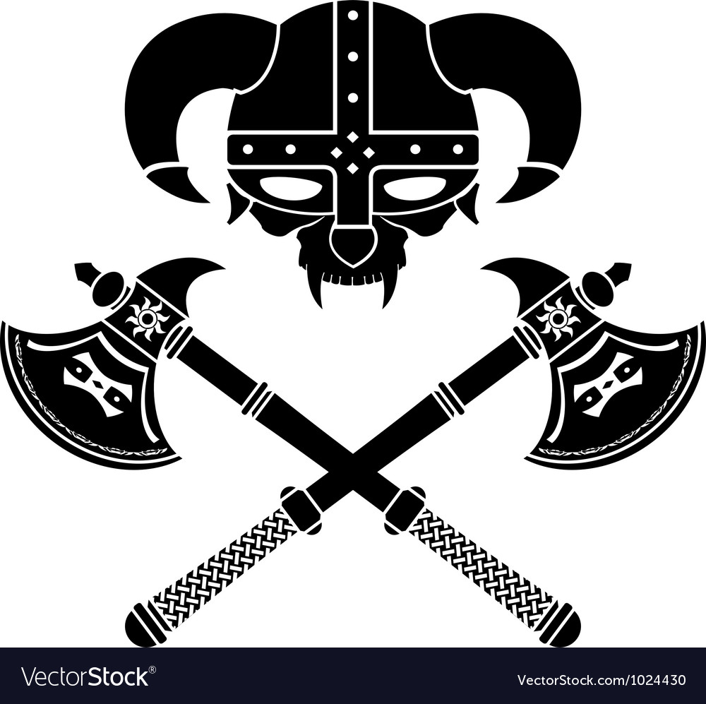 Fantasy viking helmet second variant vector | Price: 1 Credit (USD $1)