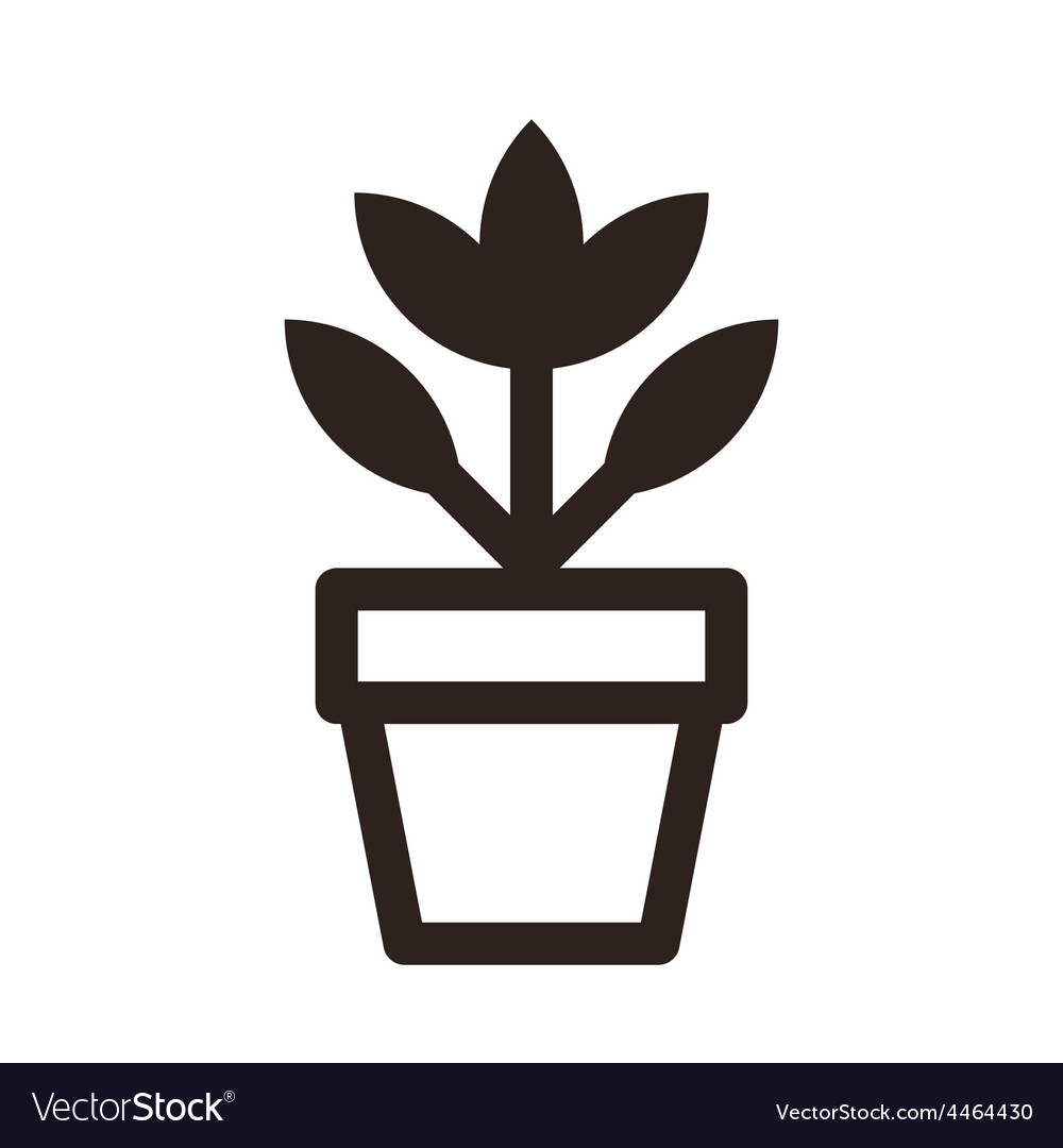Flower in pot icon vector | Price: 1 Credit (USD $1)