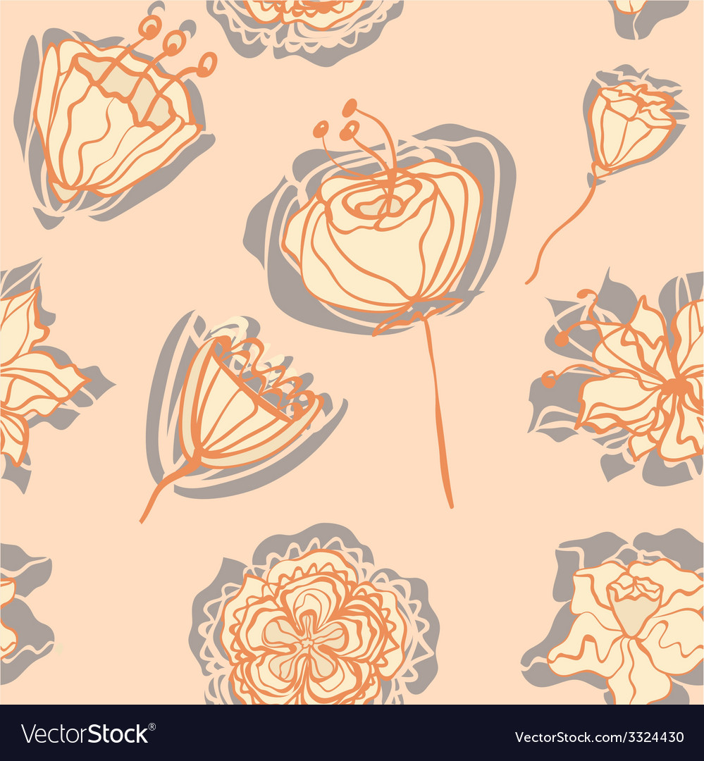 Flowerswithshadow vector | Price: 1 Credit (USD $1)