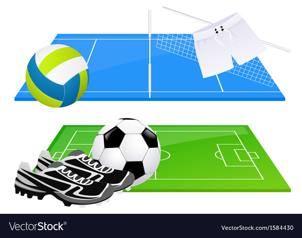 Football and volleyball backgrounds vector | Price: 1 Credit (USD $1)