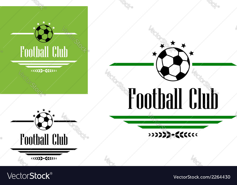 Football or soccer club symbol vector | Price: 1 Credit (USD $1)