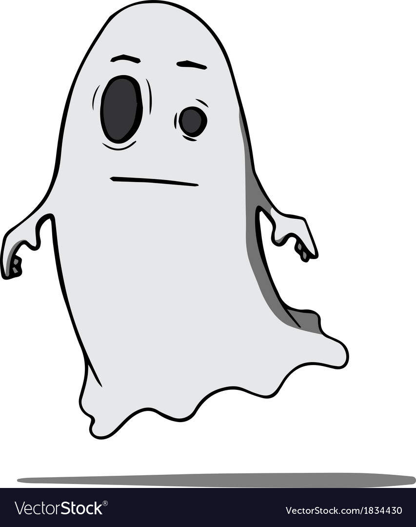 Funny cartoon ghost vector | Price: 1 Credit (USD $1)