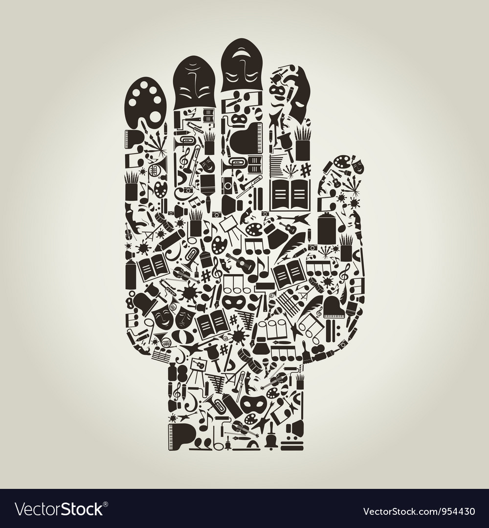 Hand art vector | Price: 1 Credit (USD $1)