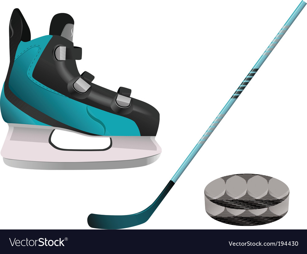 Hockey equipment vector | Price: 1 Credit (USD $1)