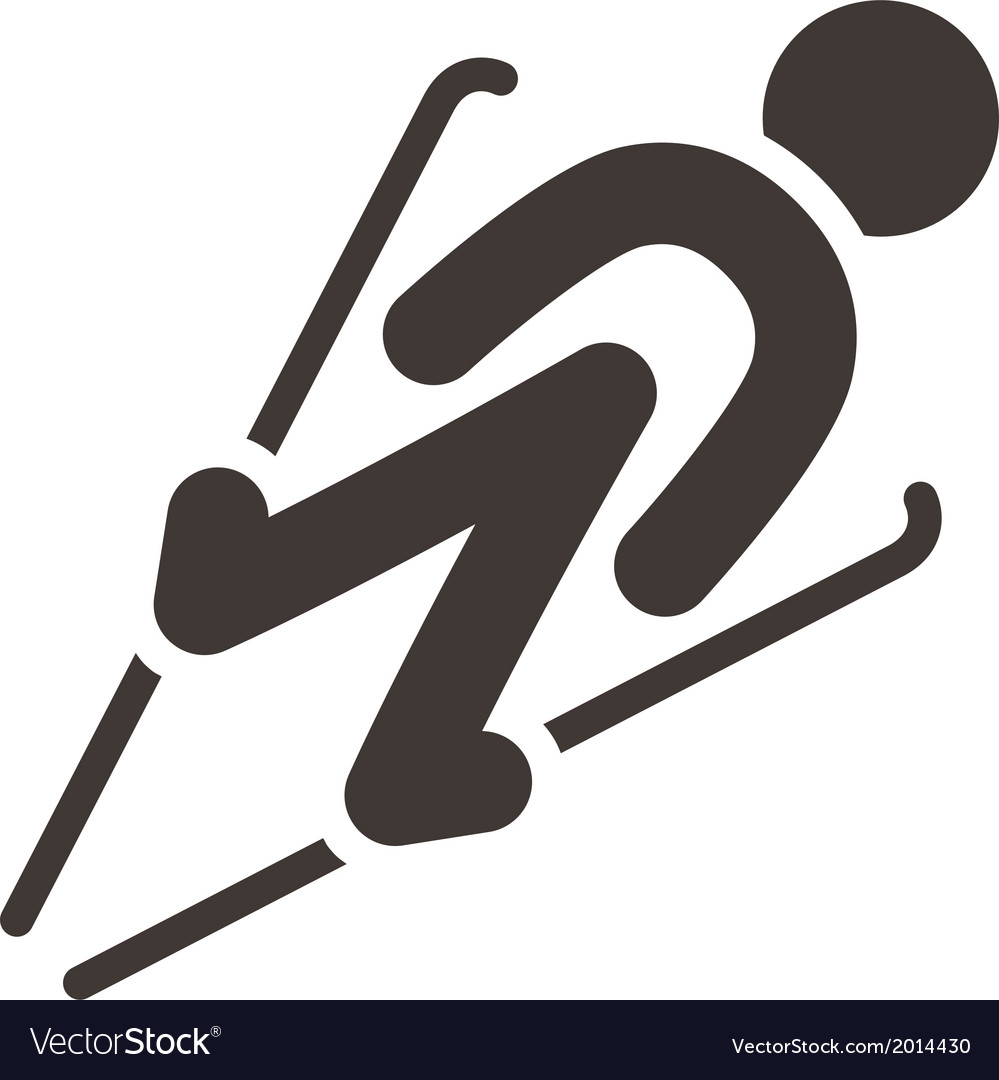Ski jumping icon vector | Price: 1 Credit (USD $1)