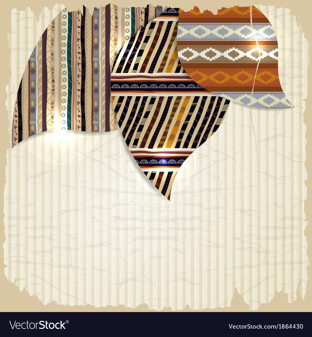 Vintage background with african paintings vector   Price: 1 Credit (USD $1)