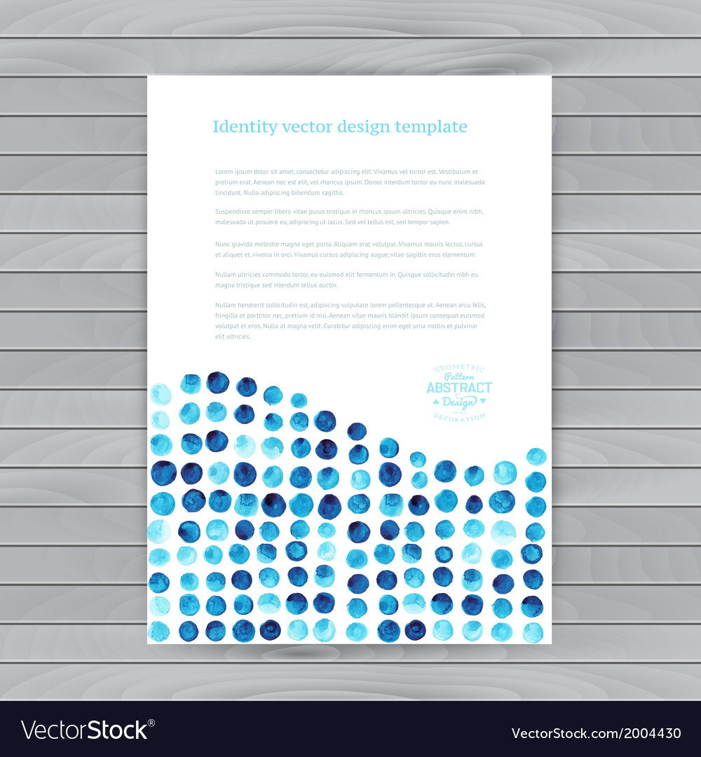 Watercolor circles corporate identity blank back vector | Price: 1 Credit (USD $1)