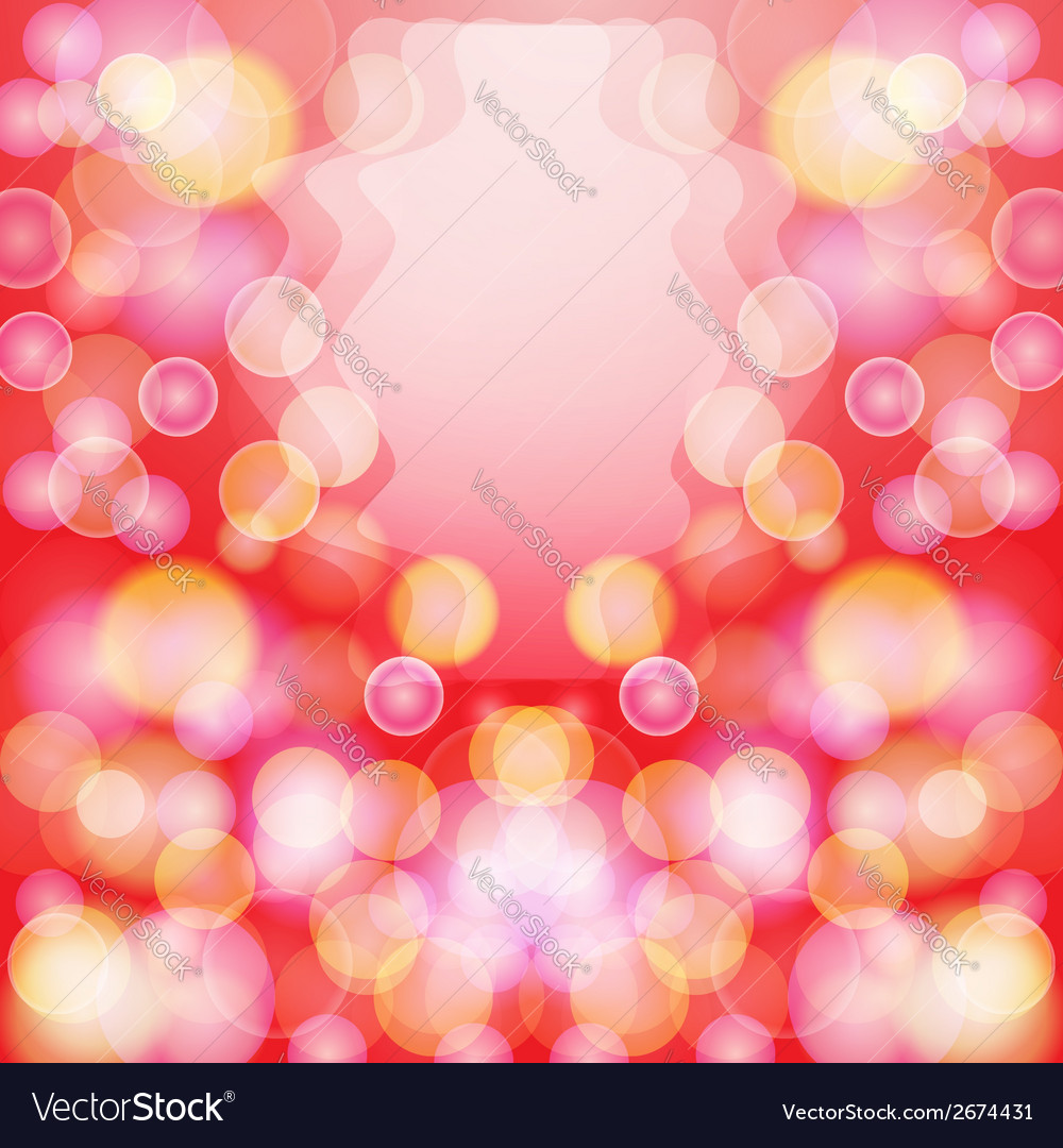 Bright red abstract background with bokeh effect vector | Price: 1 Credit (USD $1)