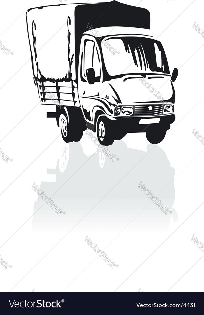 Cartoon cargo truck vector | Price: 1 Credit (USD $1)