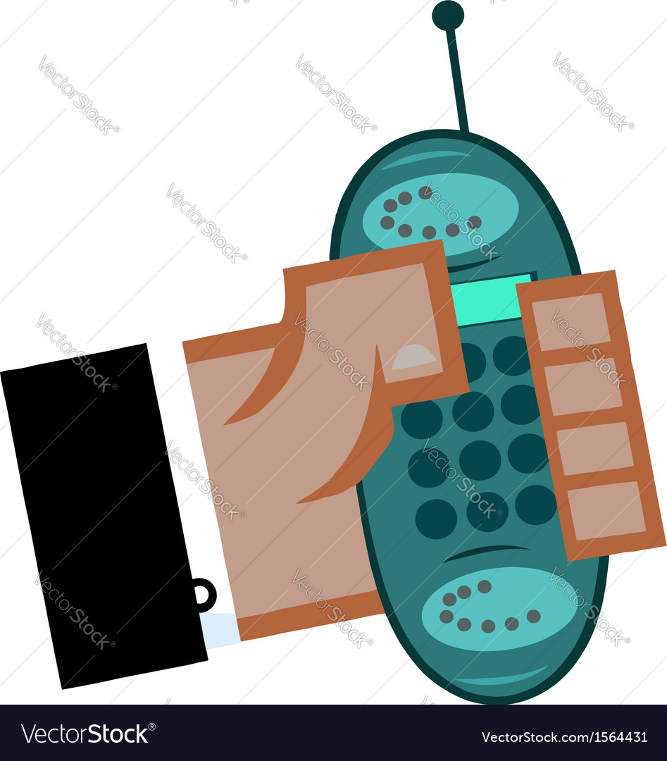 Cartoon cell phone vector | Price: 1 Credit (USD $1)