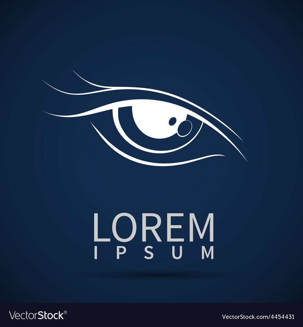 Eye icon look human vision symbol vector | Price: 1 Credit (USD $1)