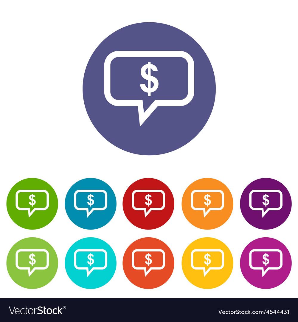 Financial message icon set vector | Price: 1 Credit (USD $1)