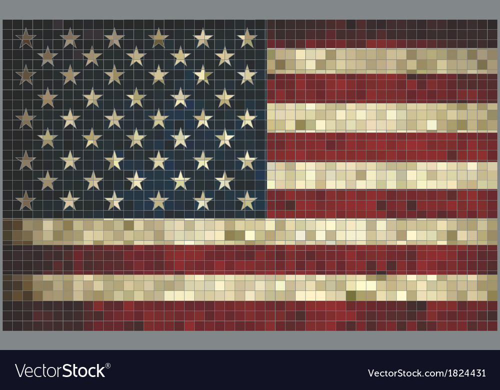 Flag of usa - mosaic vector | Price: 1 Credit (USD $1)