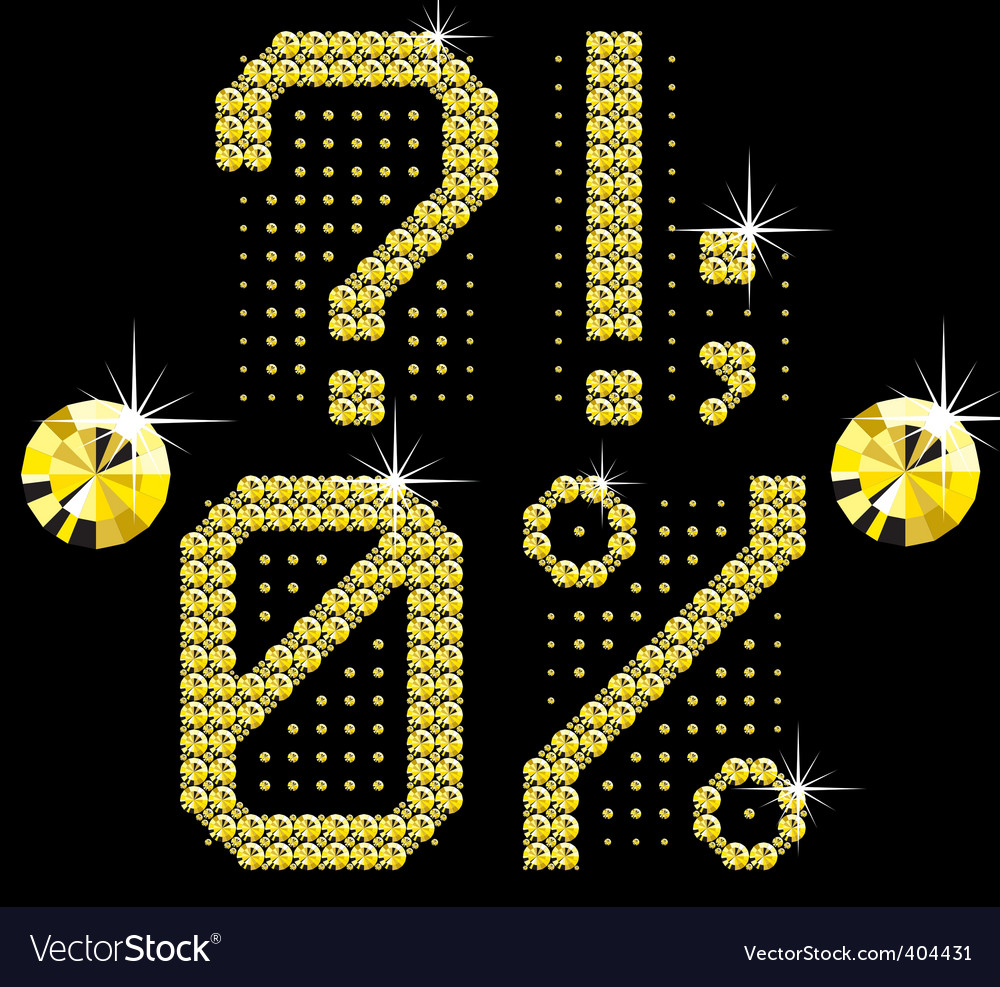 Golden digital diamond alphabet new vector | Price: 1 Credit (USD $1)