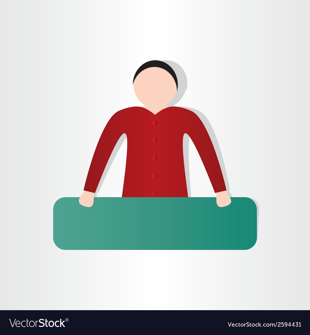 Man with board design vector | Price: 1 Credit (USD $1)