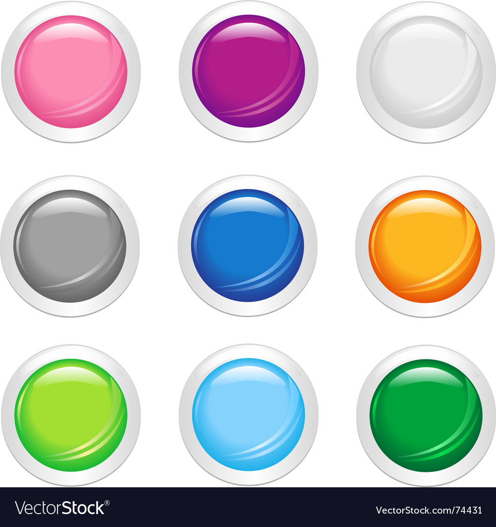 Simple shiny buttons vector | Price: 1 Credit (USD $1)