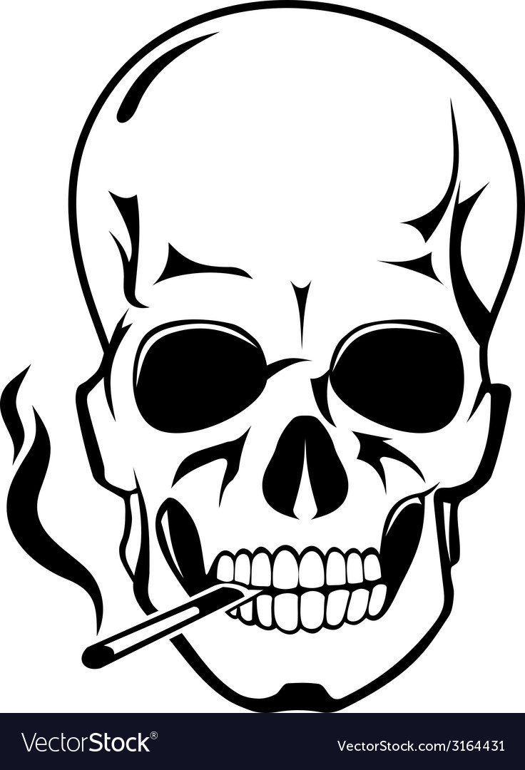Skull for danger smoke concept vector | Price: 1 Credit (USD $1)