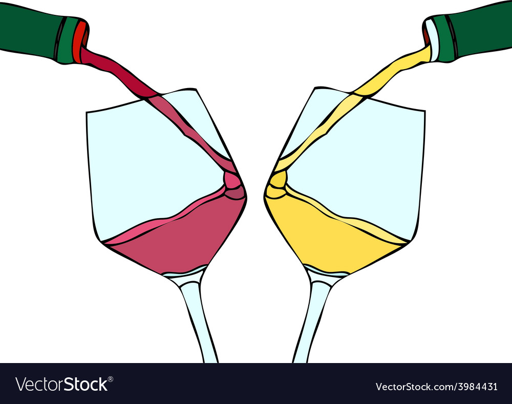 White wine and red wine vector | Price: 1 Credit (USD $1)