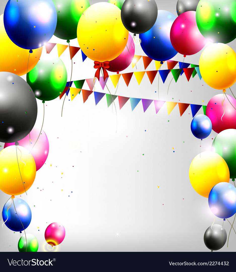Balloons decoration for you design vector | Price: 1 Credit (USD $1)