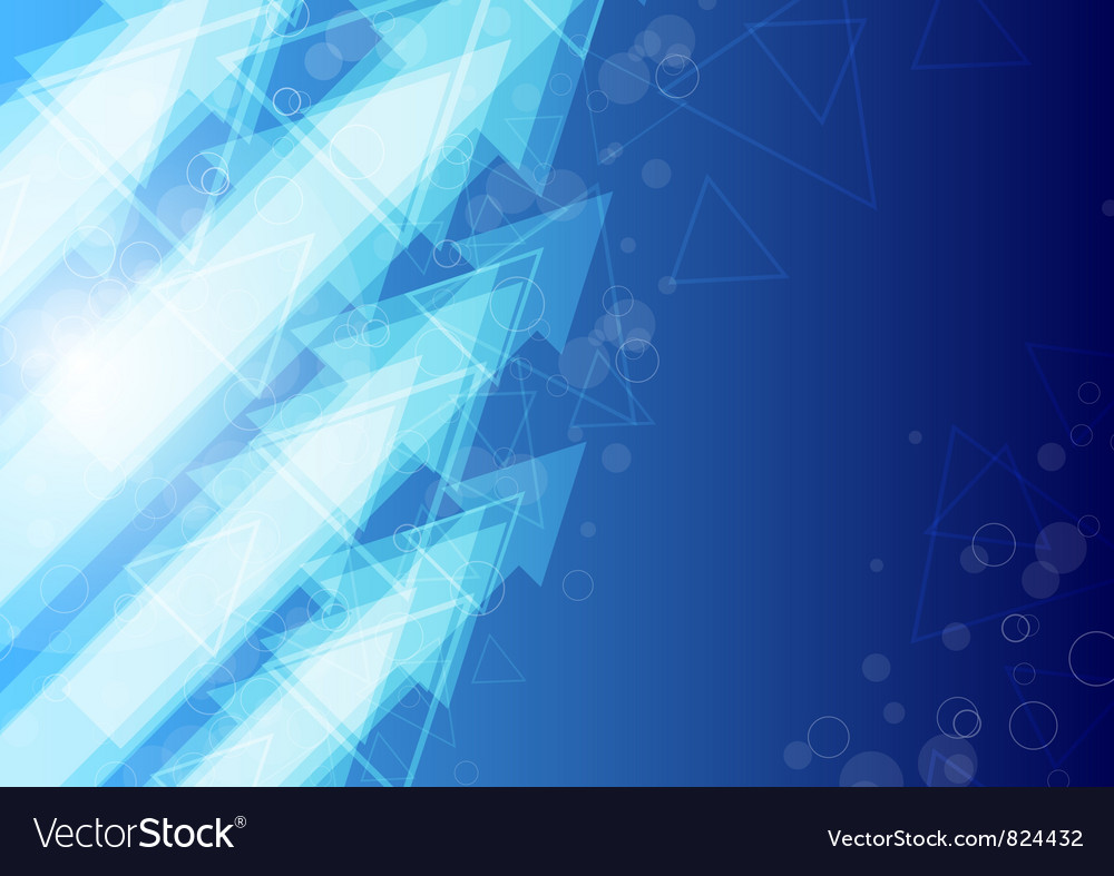 Blue arrow abstract background vector | Price: 1 Credit (USD $1)