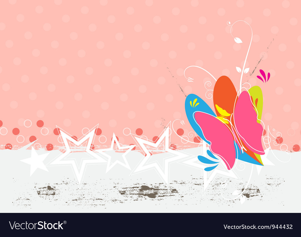 Butterfly background design vector | Price: 1 Credit (USD $1)