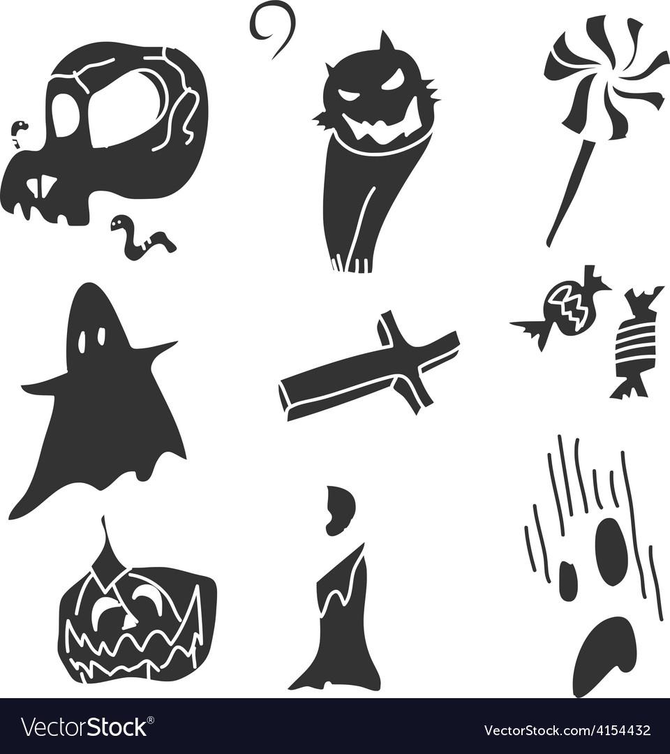 Cartoon happy halloween vector | Price: 1 Credit (USD $1)