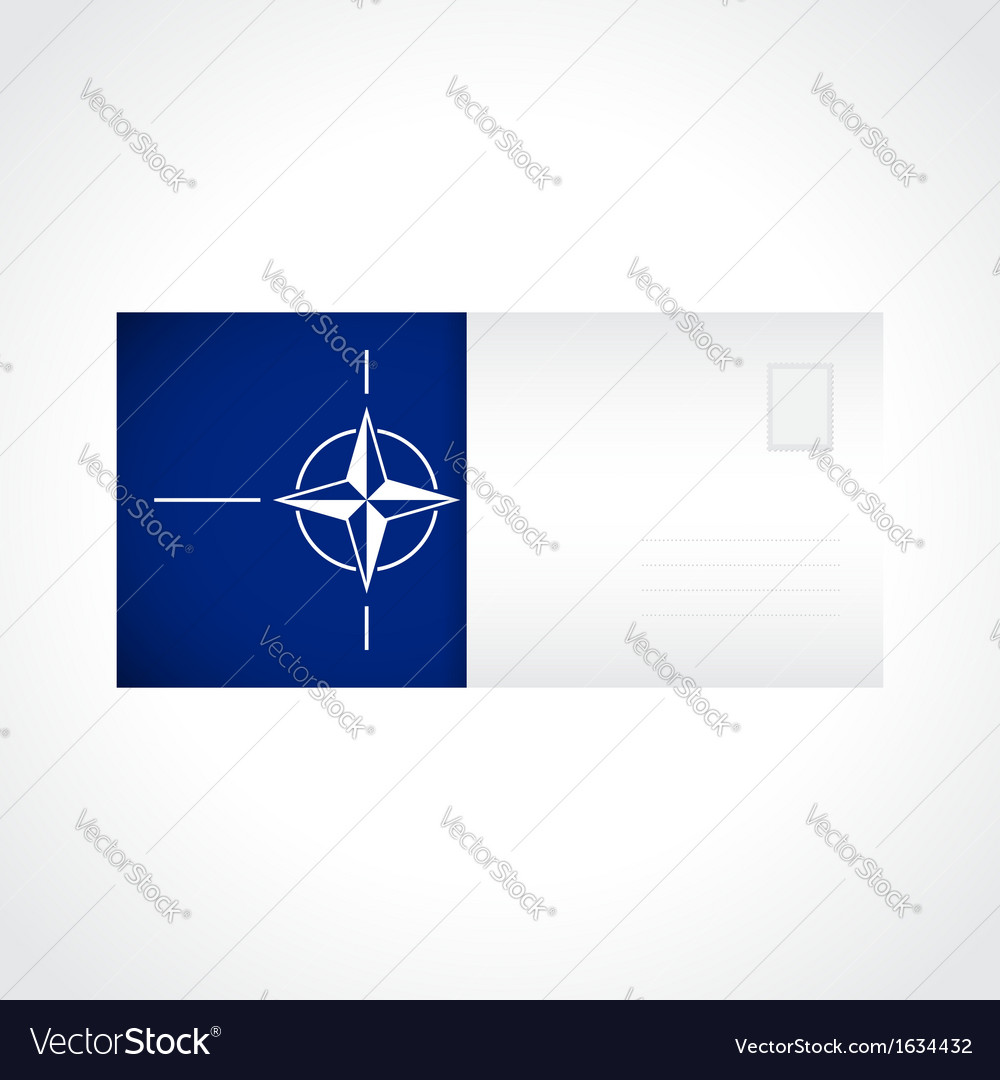 Envelope with flag of nato card vector | Price: 1 Credit (USD $1)