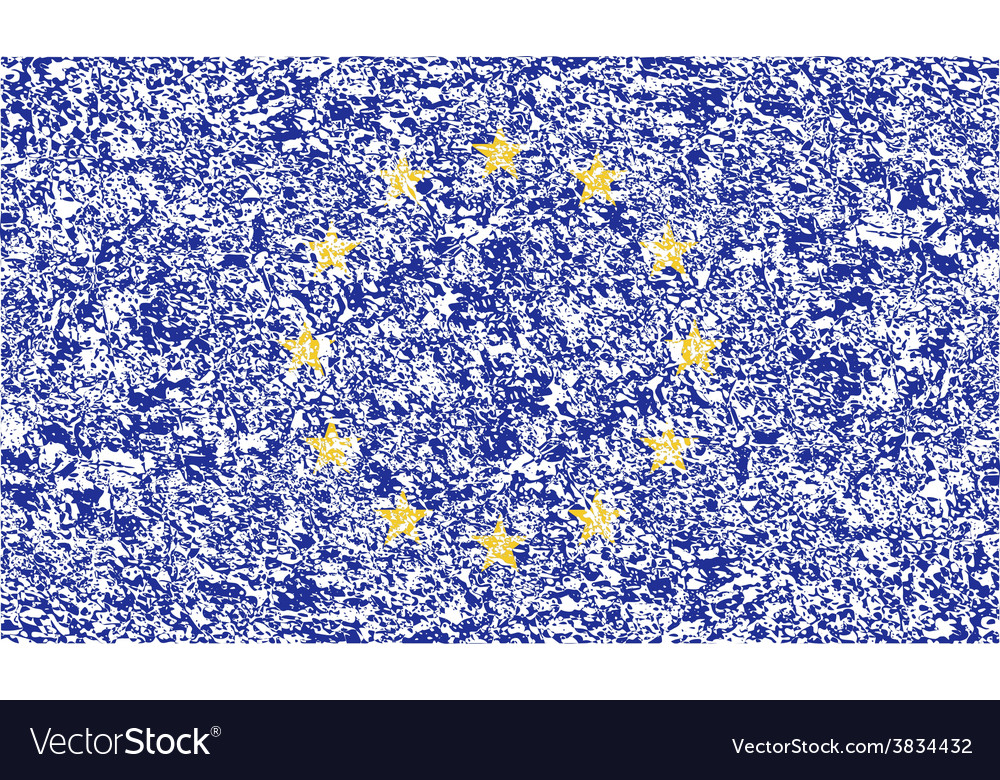 Flag of european union with old texture vector | Price: 1 Credit (USD $1)