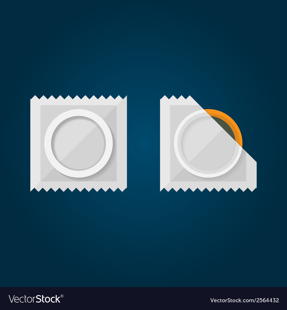 Flat of condom vector | Price: 1 Credit (USD $1)