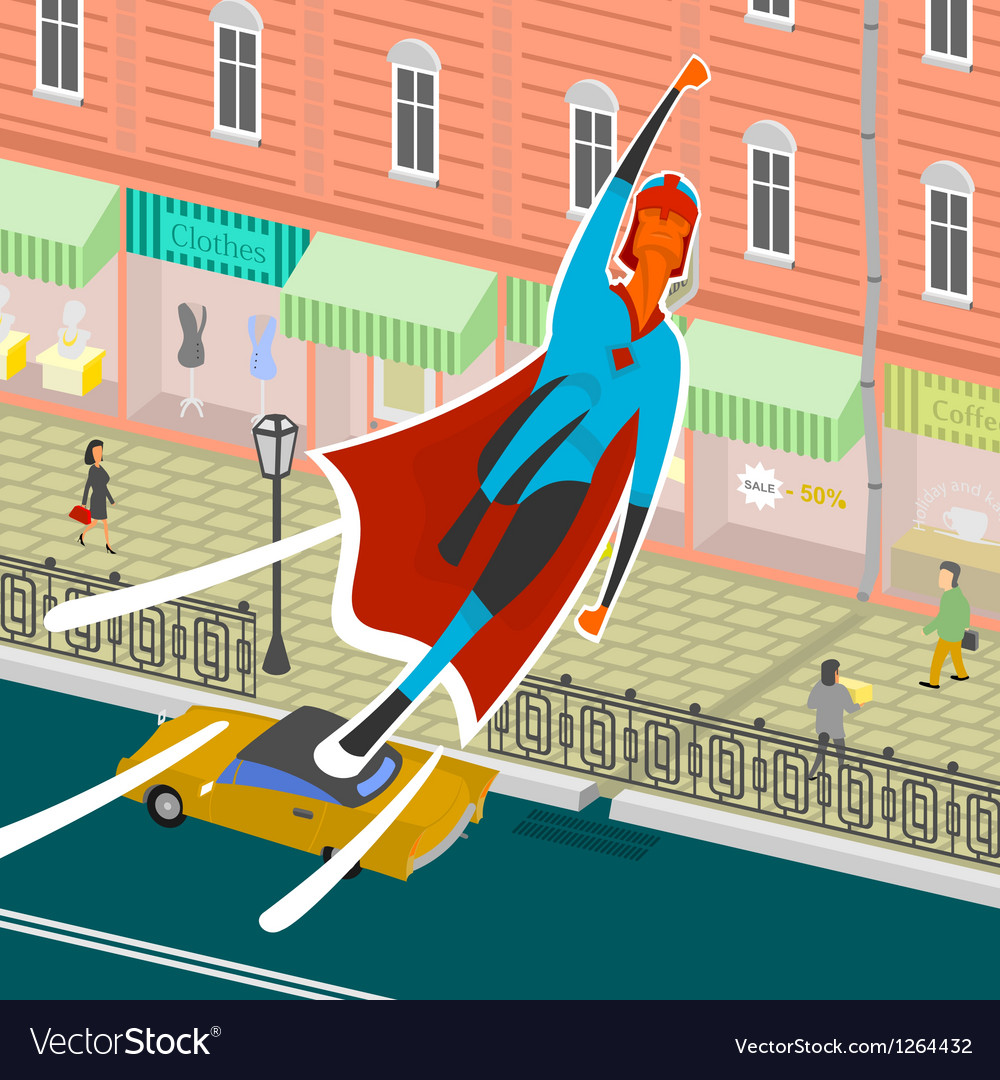 Flight superhero vector | Price: 3 Credit (USD $3)