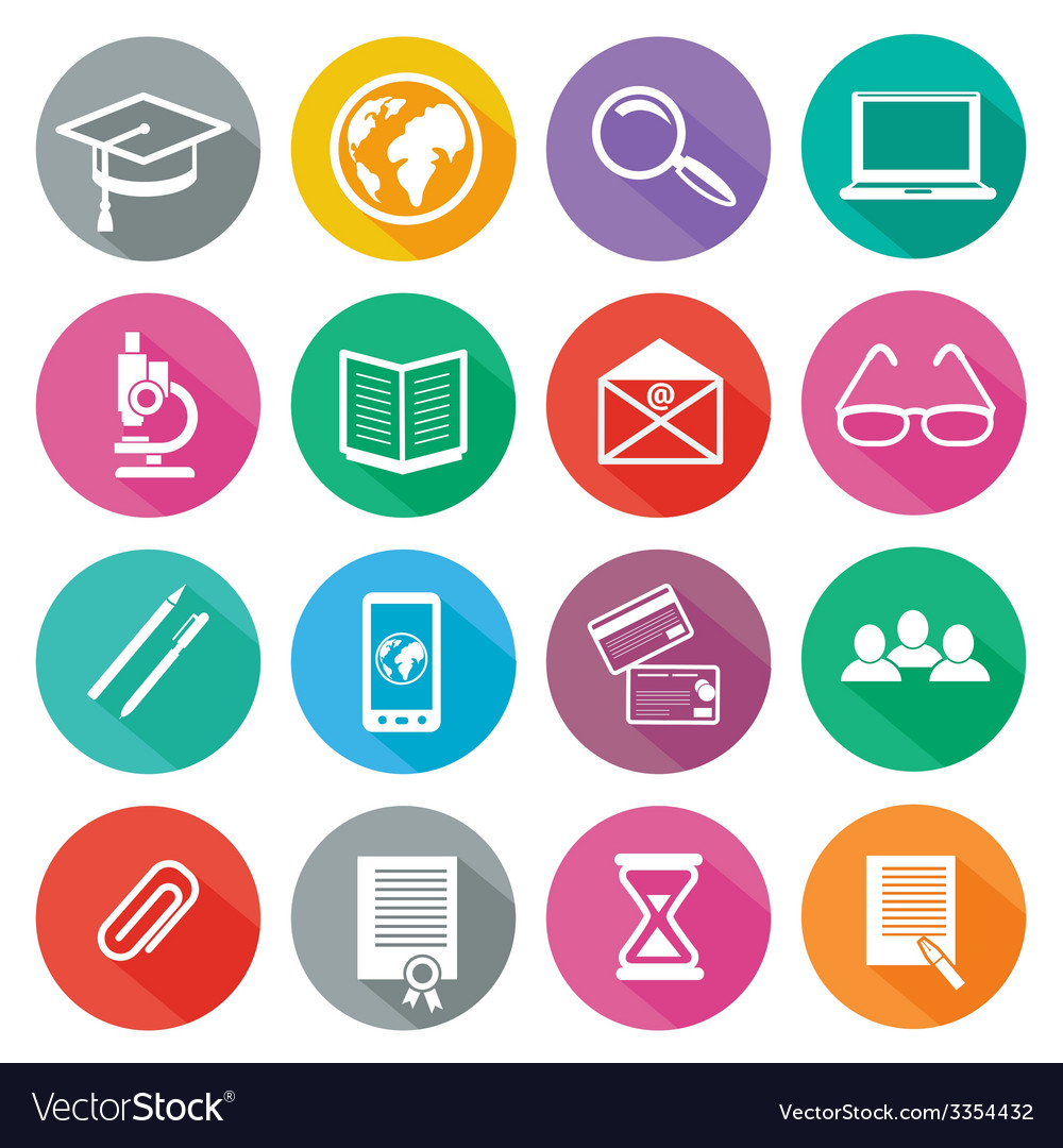 Icon set for professional training and elearning vector | Price: 1 Credit (USD $1)
