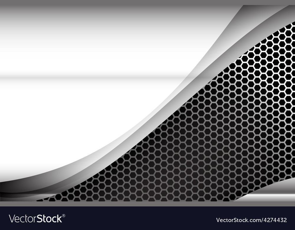 Metallic steel and honeycomb element background vector | Price: 1 Credit (USD $1)