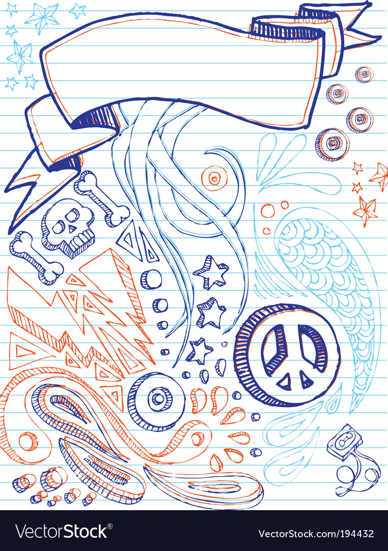 Notebook doodles vector | Price: 1 Credit (USD $1)