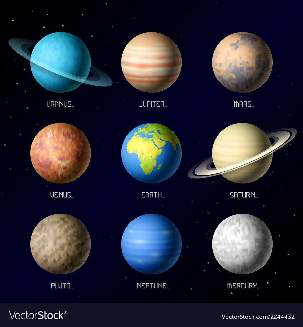 Planets of solar system vector | Price: 1 Credit (USD $1)
