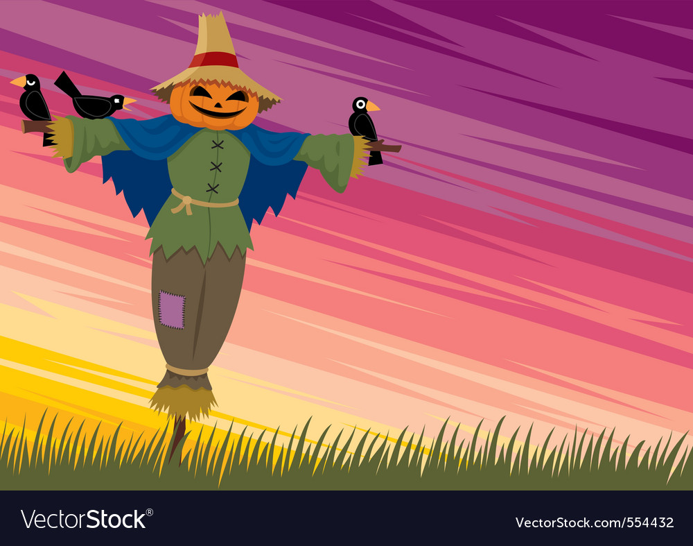 Scarecrow background 2 vector | Price: 1 Credit (USD $1)